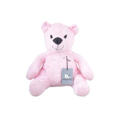 Stuffed bear 35 cm Cable baby pink