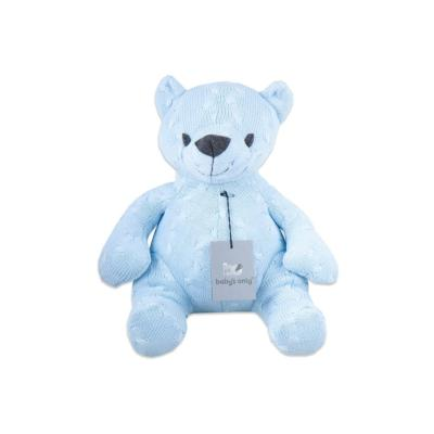 Stuffed bear 35 cm Cable baby blue
