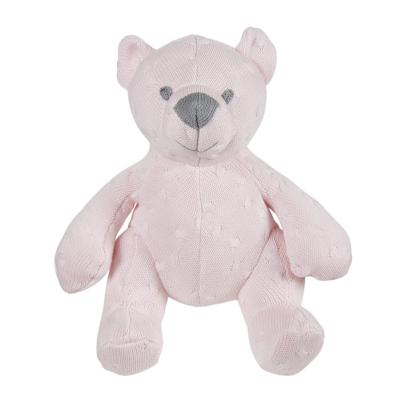 Stuffed bear 35 cm Cable classic pink